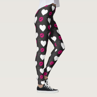 Funky Hot Pink Lips with Hearth Leggings