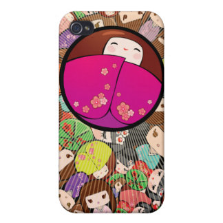 Funky Japanese Kokeshi Dolls Iphone Case iPhone 4/4S Cover