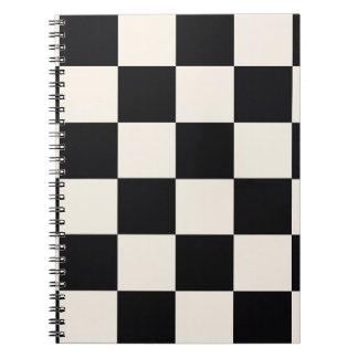Funky Khaki Black Blocks Notebook