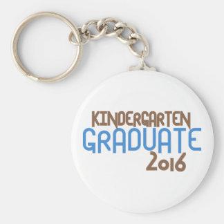 Funky Kindergarten Graduate 2016 (Blue) Keychain