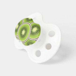 Funky kiwi fruit slices pacifier