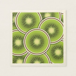 Funky kiwi fruit slices paper napkin