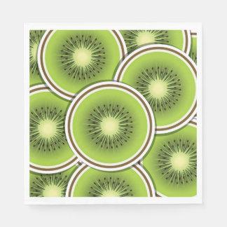 Funky kiwi fruit slices paper napkins