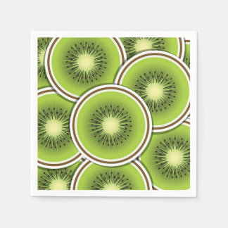 Funky kiwi fruit slices paper napkins