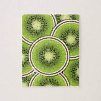 Funky kiwi fruit slices puzzle