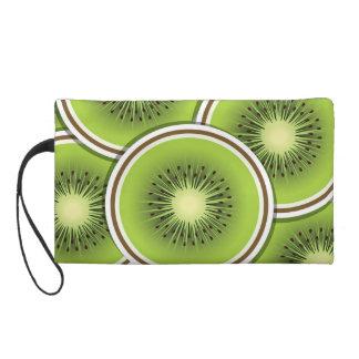 Funky kiwi fruit slices wristlet