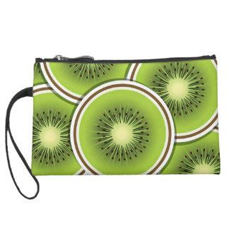 Funky kiwi fruit slices wristlet clutches