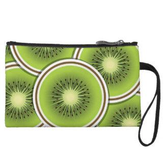 Funky kiwi fruit slices wristlet purses