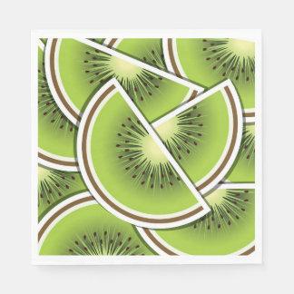 Funky kiwi fruit wedges disposable napkins