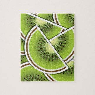 Funky kiwi fruit wedges puzzle
