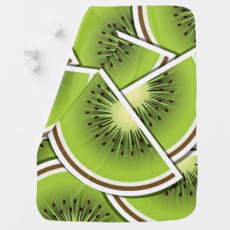 Funky kiwi fruit wedges receiving blanket
