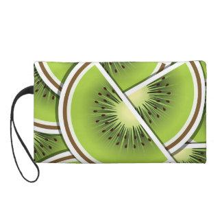 Funky kiwi fruit wedges wristlet