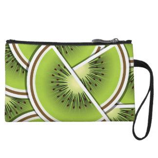 Funky kiwi fruit wedges wristlet purse