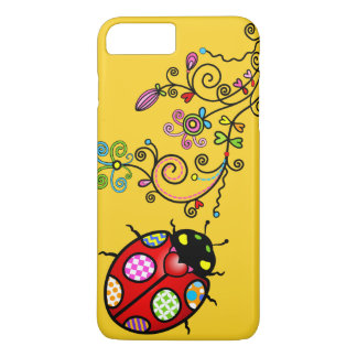 Funky Ladybug and Curly Flowers iPhone 7 Plus iPhone 7 Plus Case