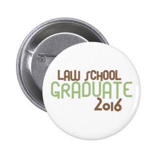 Funky Law School Graduate 2016 (Green) 2 Inch Round Button