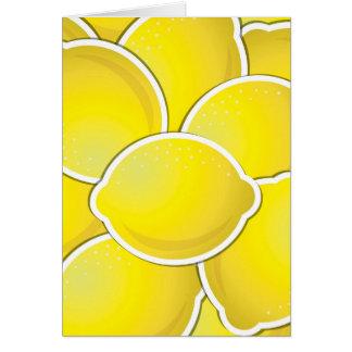 Funky lemon card
