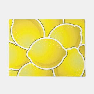 Funky lemon doormat