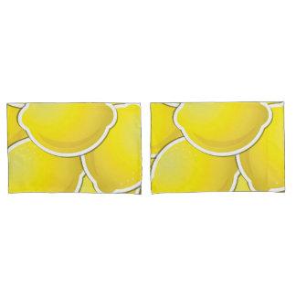 Funky lemon pillowcase
