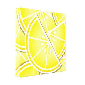 Funky lemon wedges! canvas print