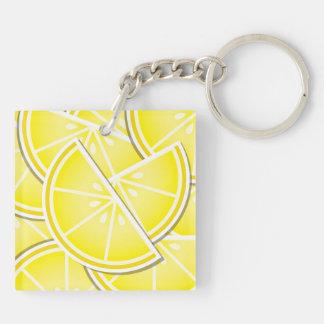 Funky lemon wedges! keychain