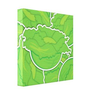 Funky lettuce canvas print