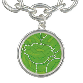 Funky lettuce charm bracelets