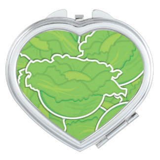 Funky lettuce mirrors for makeup
