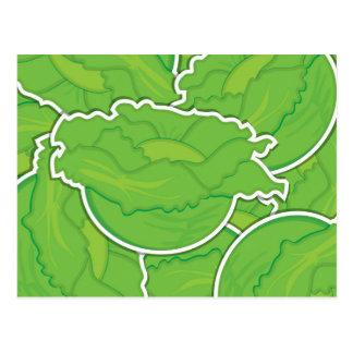 Funky lettuce postcard