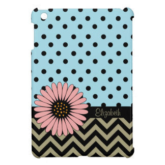 Funky L'il Daisy Dot iPad Mini Case -blue