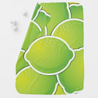 Funky lime baby blanket