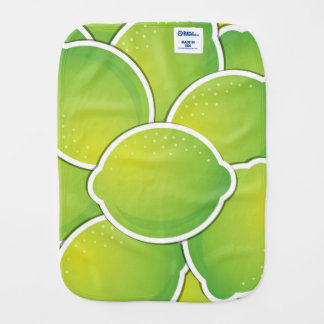Funky lime baby burp cloths
