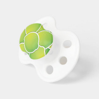 Funky lime baby pacifiers