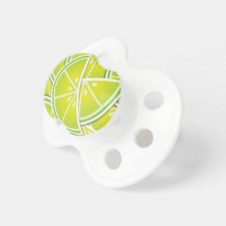 Funky lime wedges baby pacifiers