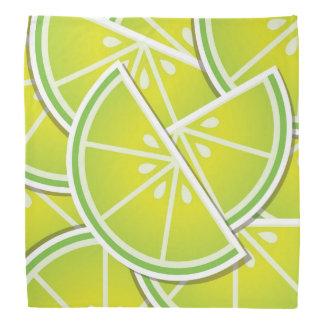 Funky lime wedges bandana