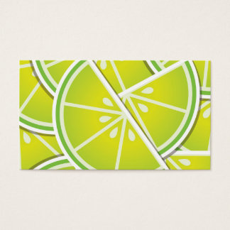 Funky lime wedges business card