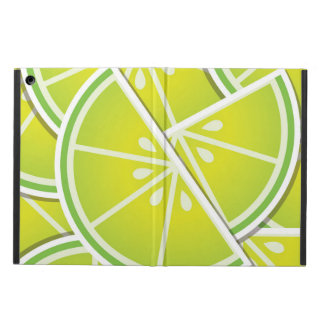 Funky lime wedges iPad air cases