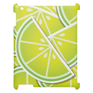 Funky lime wedges iPad cover