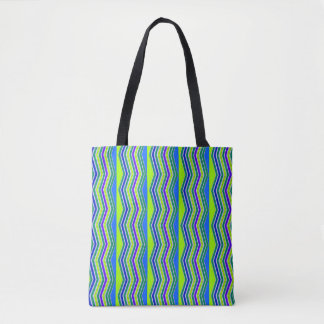 Funky Lines Abstract Pattern Tote Bag