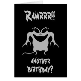 Funky little monster, Rawrrr!!, another birthday? Card