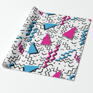 Funky Loud Memphis Design Wrapping Paper