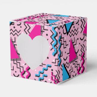 Funky Loud Pink Memphis Design Party Favor Box