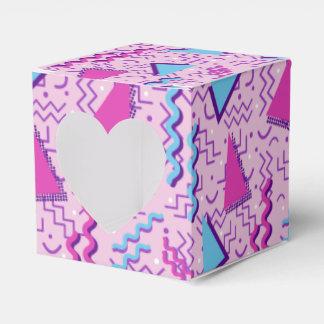 Funky Loud Pink Memphis Design Party Favor Boxes