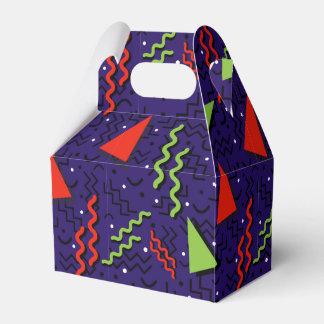Funky Loud Purple Memphis Design Party Favor Boxes