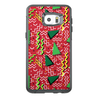 Funky Loud Red Memphis Design OtterBox Samsung Galaxy S6 Edge Plus Case