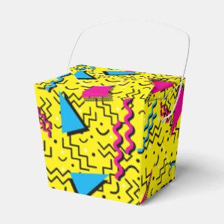 Funky Loud Yellow Memphis Design Favor Box