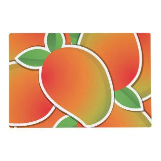 Funky mango laminated place mat