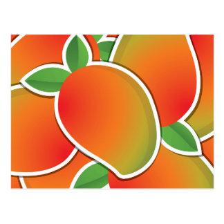 Funky mango postcard