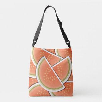 Funky melon wedges crossbody bag