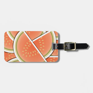 Funky melon wedges luggage tag