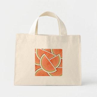 Funky melon wedges mini tote bag